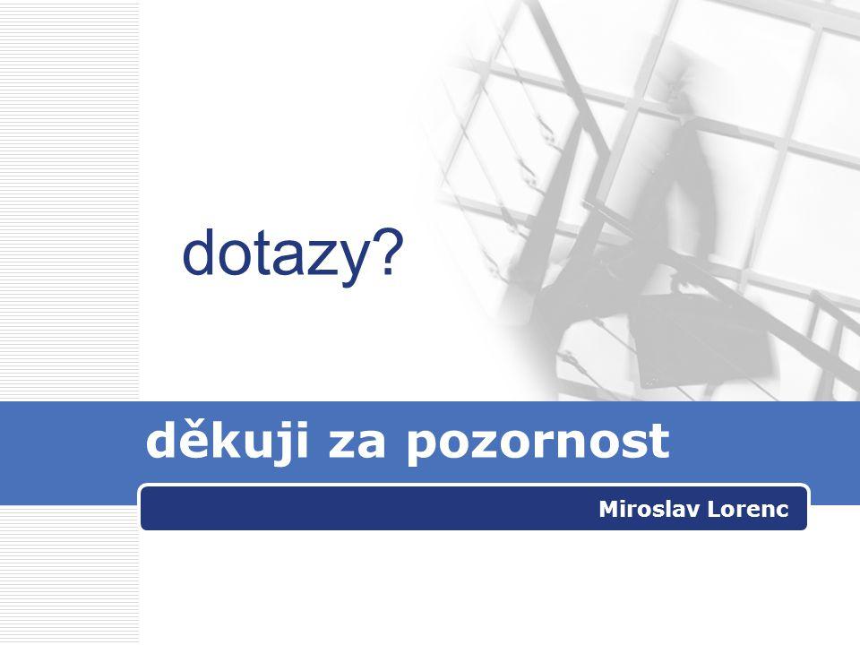 Miroslav Lorenc děkuji za pozornost dotazy?