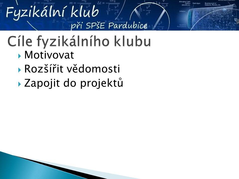  Motivovat  Rozšířit vědomosti  Zapojit do projektů