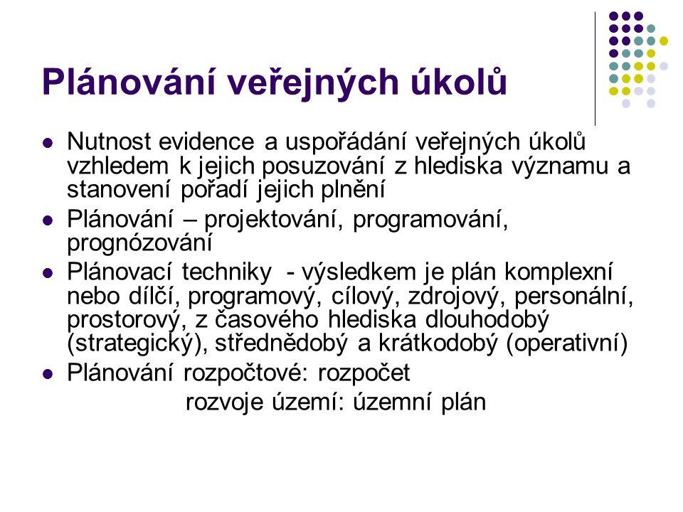 Plánování jako rozhodovací situace Konflikt cílů: 3 základní situace 1.