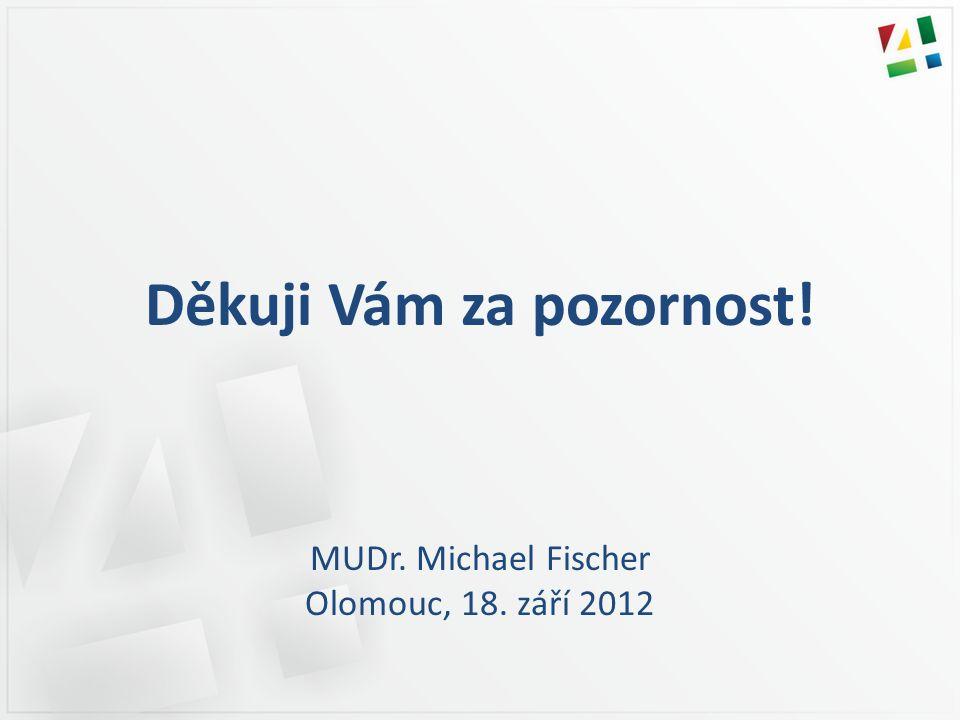 Děkuji Vám za pozornost! MUDr. Michael Fischer Olomouc, 18. září 2012