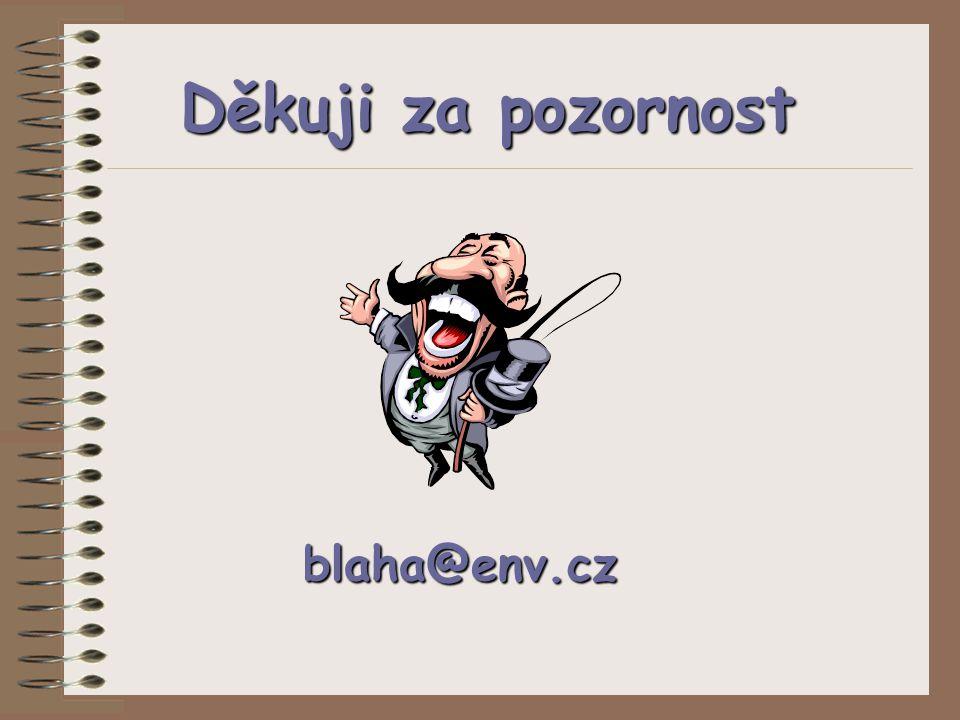 Děkuji za pozornost blaha@env.cz