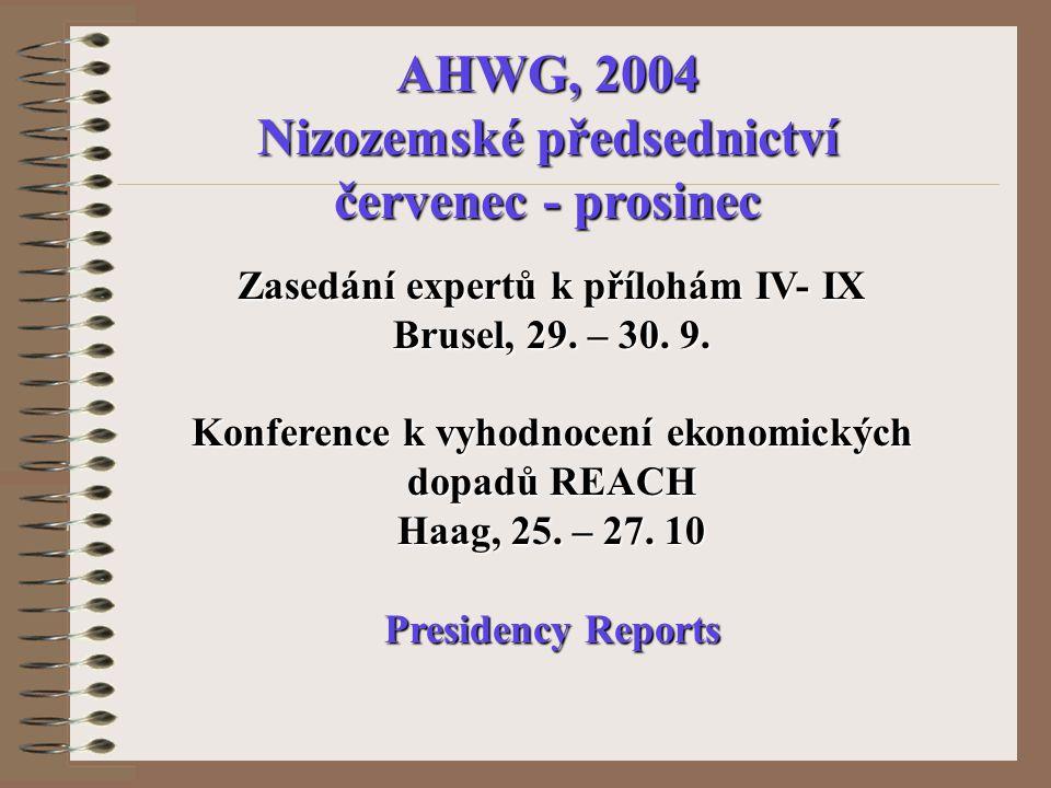 Zasedání expertů k přílohám IV- IX Brusel, 29. – 30.