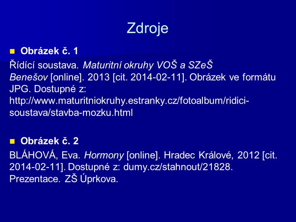 Zdroje Obrázek č. 1 Řídící soustava. Maturitní okruhy VOŠ a SZeŠ Benešov [online].