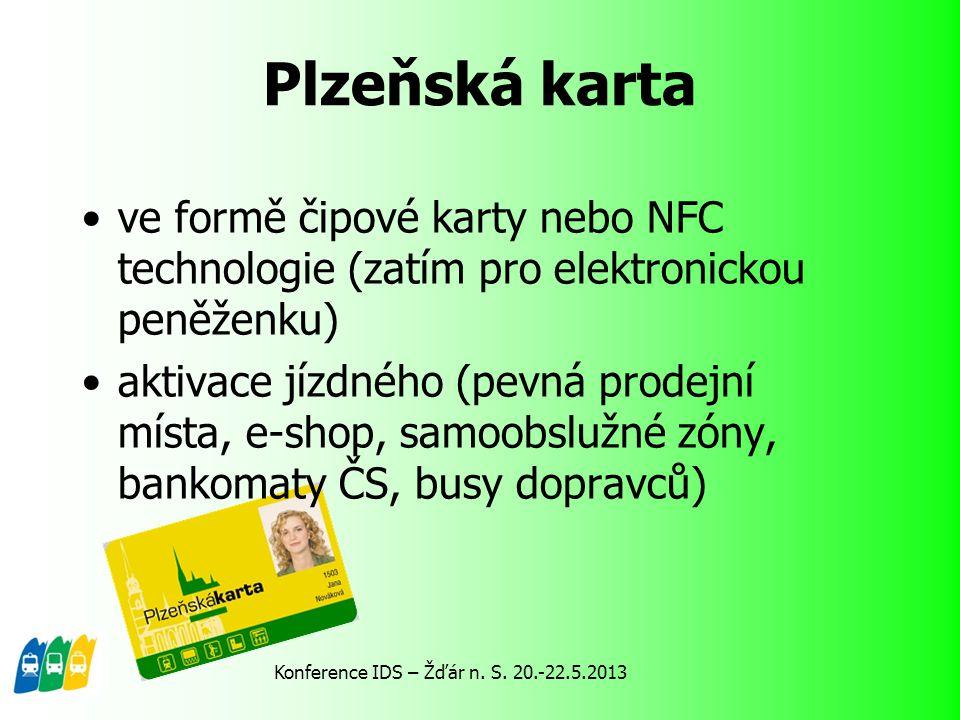 pouze předplatné jízdné 24 vnějších zón stejné tarifní podmínky, zóna Plzeň odlišné tarifní podmínky jízdné = součet jízdného za všechny projeté zóny Plzeňská karta jako nosič jízdného IDP – jednotný jízdní doklad Tarif IDP Konference IDS – Žďár n.
