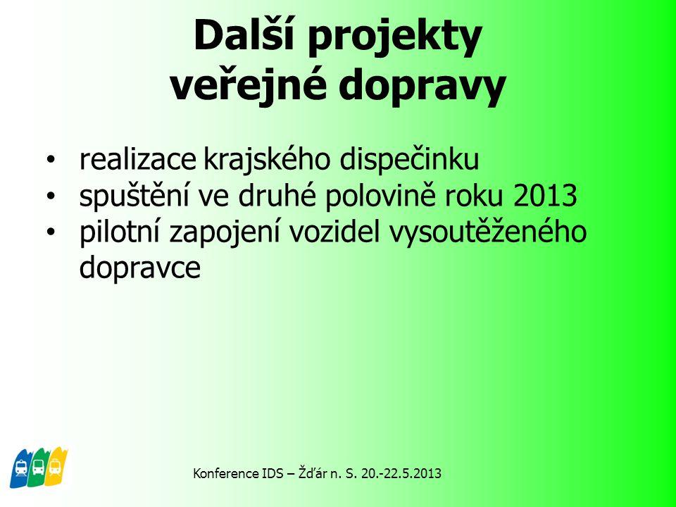 Další projekty veřejné dopravy železnice – od podzimu 2012 nasazování nových vozidel na trati 180 z Plzně do Domažlic – celkem 9 jednotek Konference IDS – Žďár n.