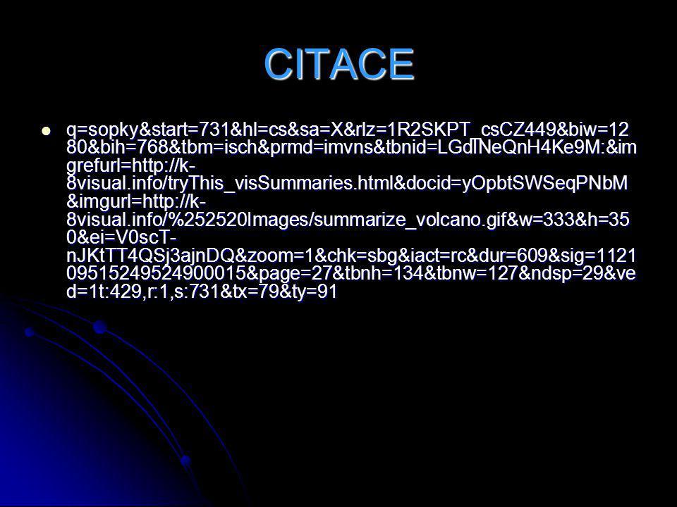 CITACE q=sopky&start=731&hl=cs&sa=X&rlz=1R2SKPT_csCZ449&biw=12 80&bih=768&tbm=isch&prmd=imvns&tbnid=LGdINeQnH4Ke9M:&im grefurl=http://k- 8visual.info/
