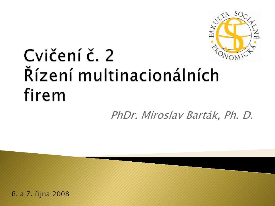 PhDr. Miroslav Barták, Ph. D. 6. a 7. října 2008