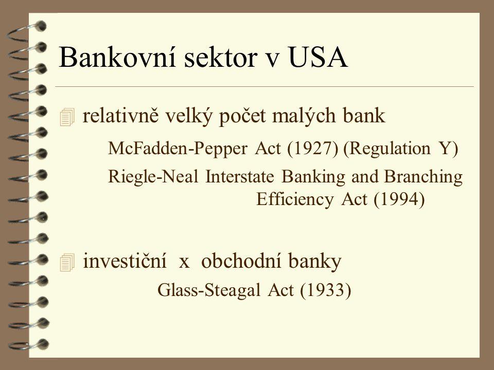 Typy organizační struktury bank ü podle hlavní činnosti, tj.