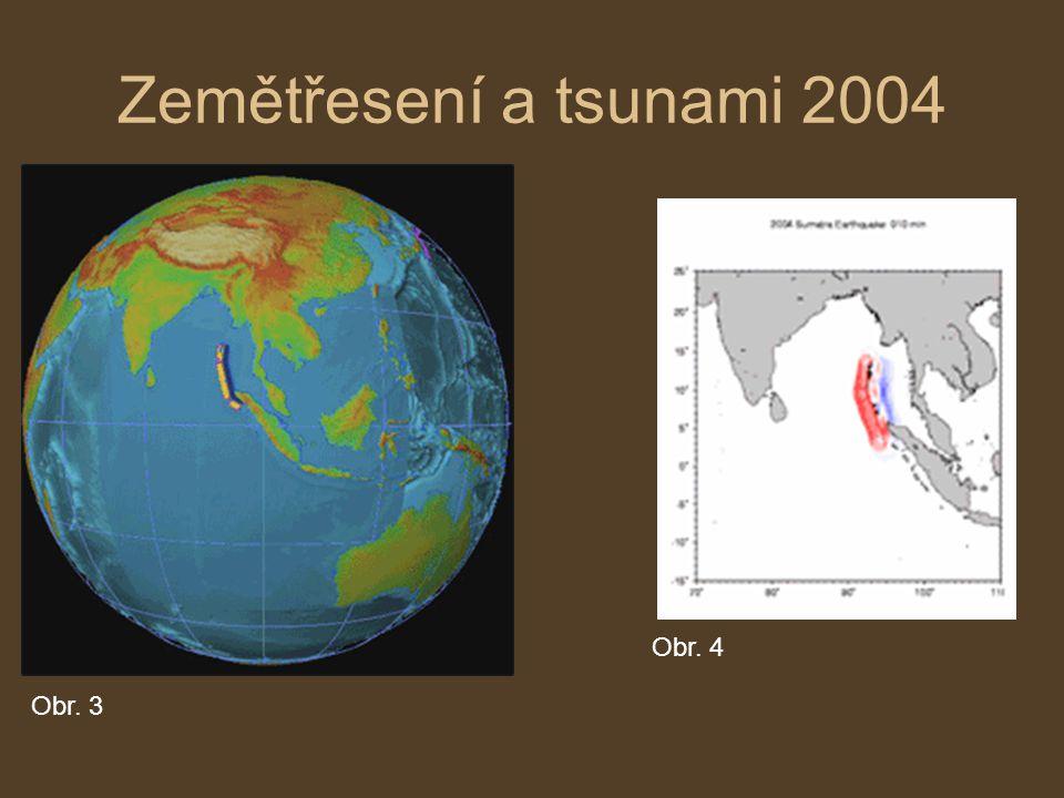 Pojmy: Hypocentrum –místo, kde zemětřesení vzniká Epicentrum –místo na zemském povrchu, kde dochází k nejprudším otřesům Zemětřesná pásma –oblasti častých zemětřesení, které leží podél hranice litosférických desek Seismologie –Obor geofyziky, který studuje zemětřesení Seismograf –přístroj, který měří a pořizuje zápis velikosti, síly a průběhu seismických vln Seismogram –grafický zápis ze seismografu Richterova stupnice –Stupnice měřící sílu zemětřesení (1-10) Obr.