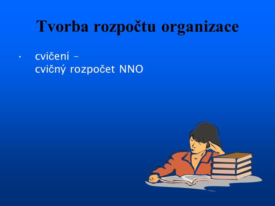 Tvorba rozpočtu organizace cvi č ení – cvi č ný rozpo č et NNO