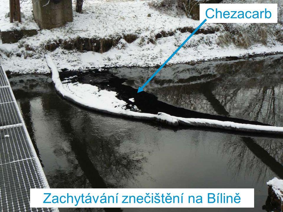 Zachytávání znečištění na Bílině Chezacarb