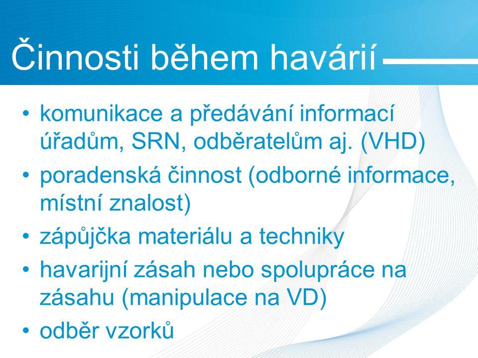 komunikace a předávání informací úřadům, SRN, odběratelům aj.