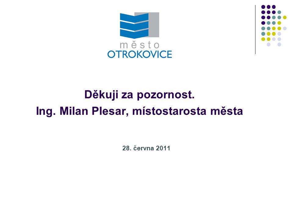 28. června 2011 Děkuji za pozornost. Ing. Milan Plesar, místostarosta města