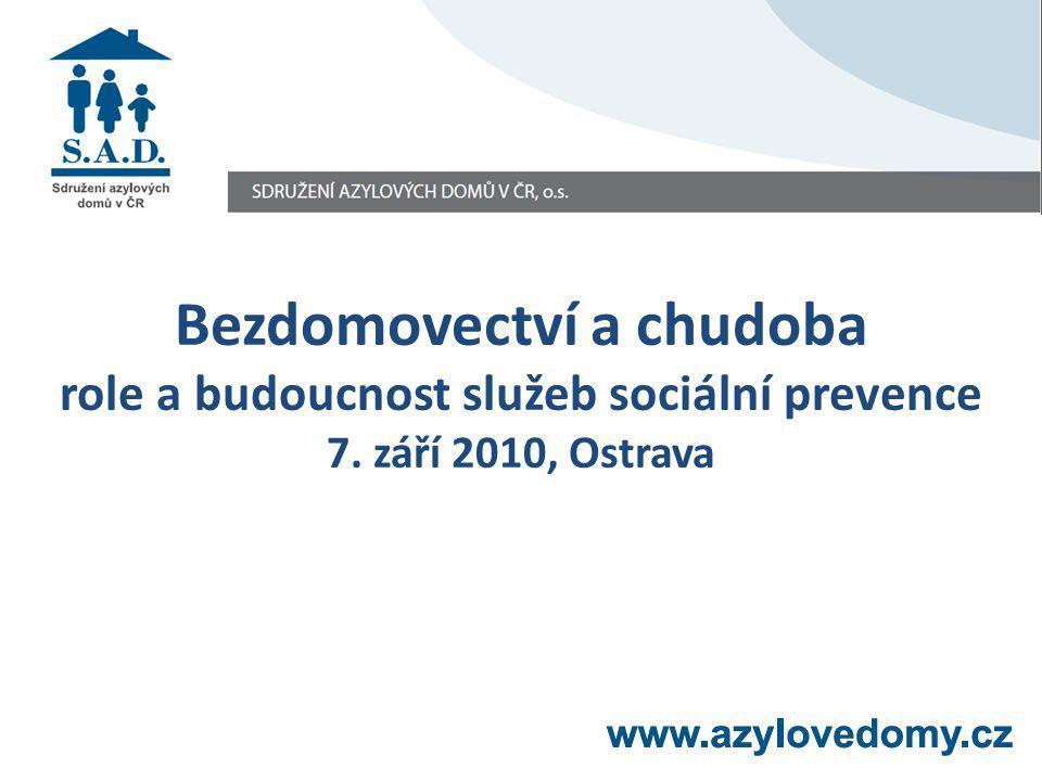 Bezdomovectví a chudoba role a budoucnost služeb sociální prevence 7. září 2010, Ostrava