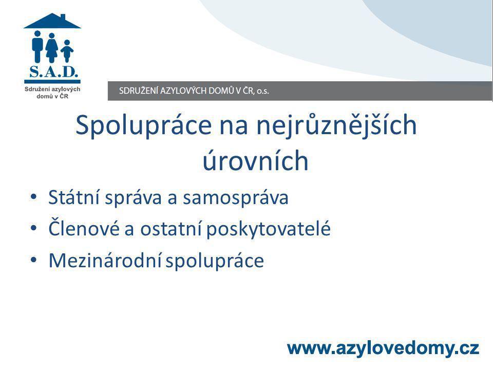 Spolupráce na nejrůznějších úrovních Státní správa a samospráva Členové a ostatní poskytovatelé Mezinárodní spolupráce