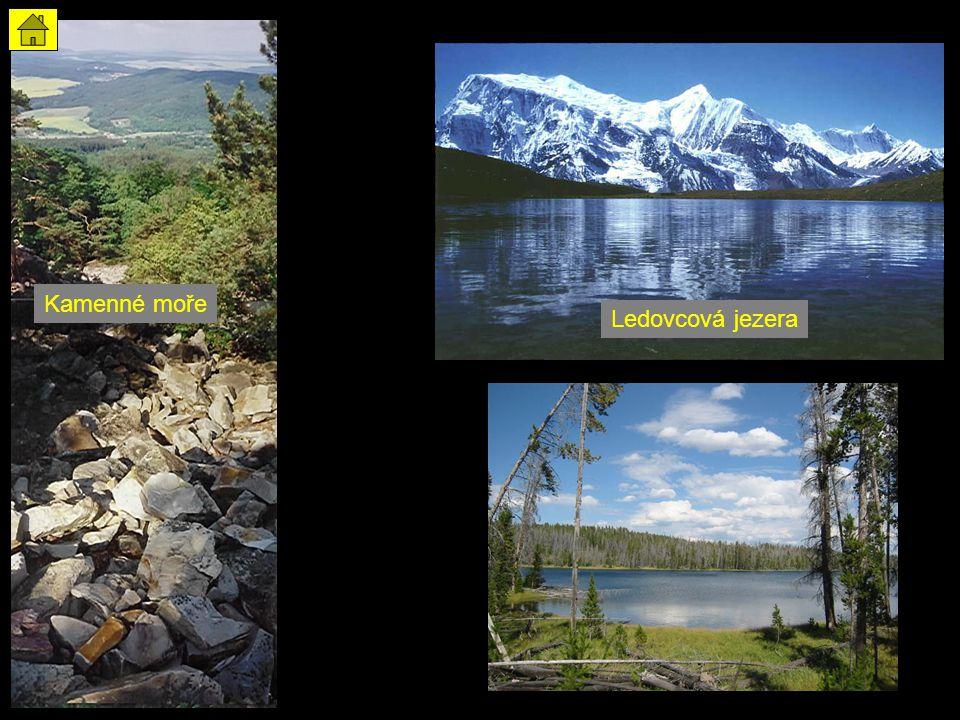 Kamenné moře Ledovcová jezera