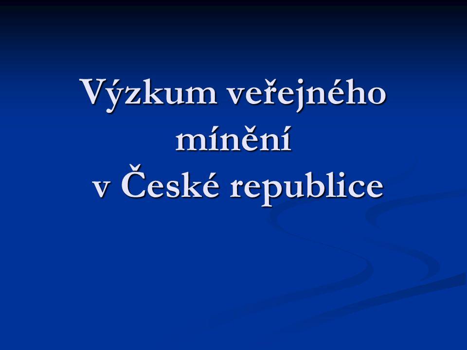 Výzkum veřejného mínění v České republice