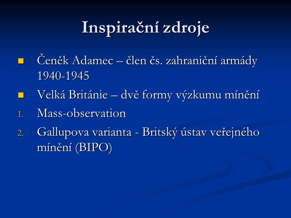 Inspirační zdroje Čeněk Adamec – člen čs. zahraniční armády 1940-1945 Čeněk Adamec – člen čs. zahraniční armády 1940-1945 Velká Británie – dvě formy v