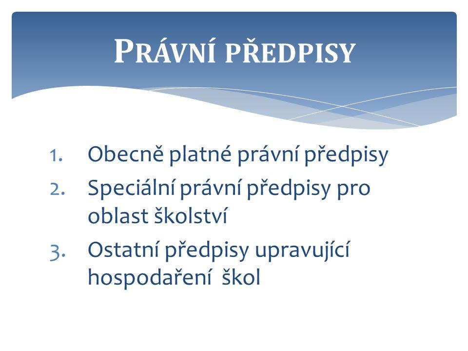  Zákon č.218/2000 Sb., o rozpočtových pravidlech ČR  Zákon č.