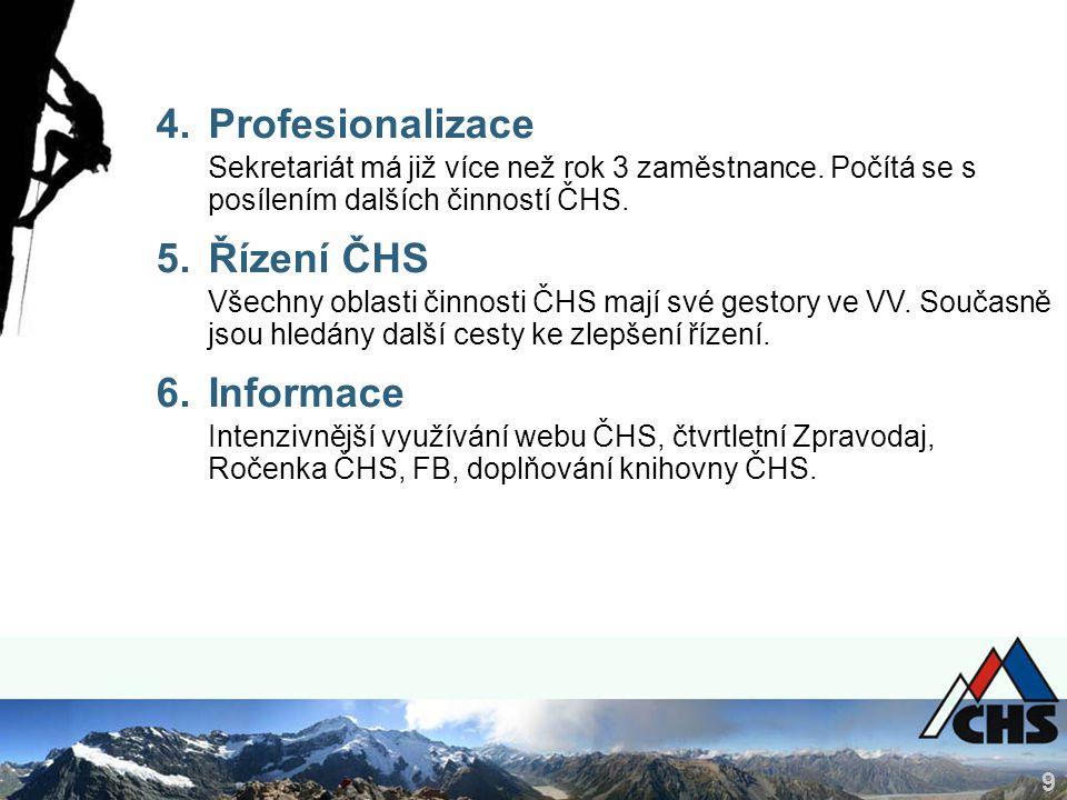 9 4.Profesionalizace Sekretariát má již více než rok 3 zaměstnance.