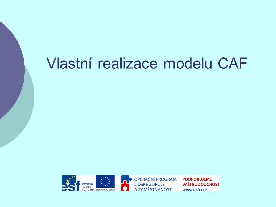 Vlastní realizace modelu CAF
