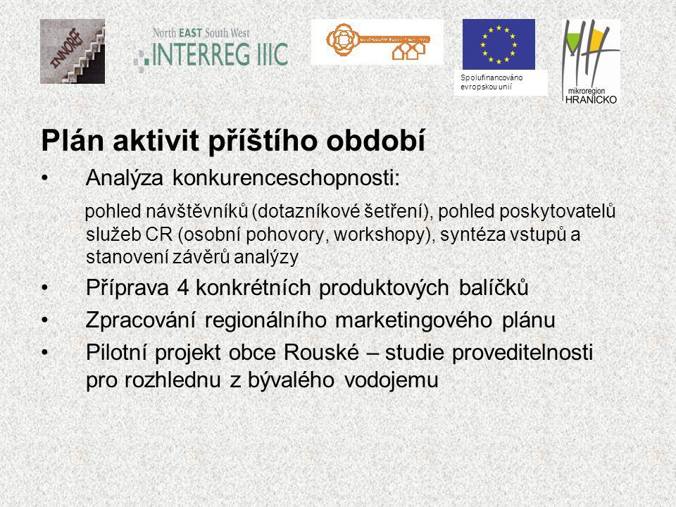 Plán aktivit příštího období Analýza konkurenceschopnosti: pohled návštěvníků (dotazníkové šetření), pohled poskytovatelů služeb CR (osobní pohovory,