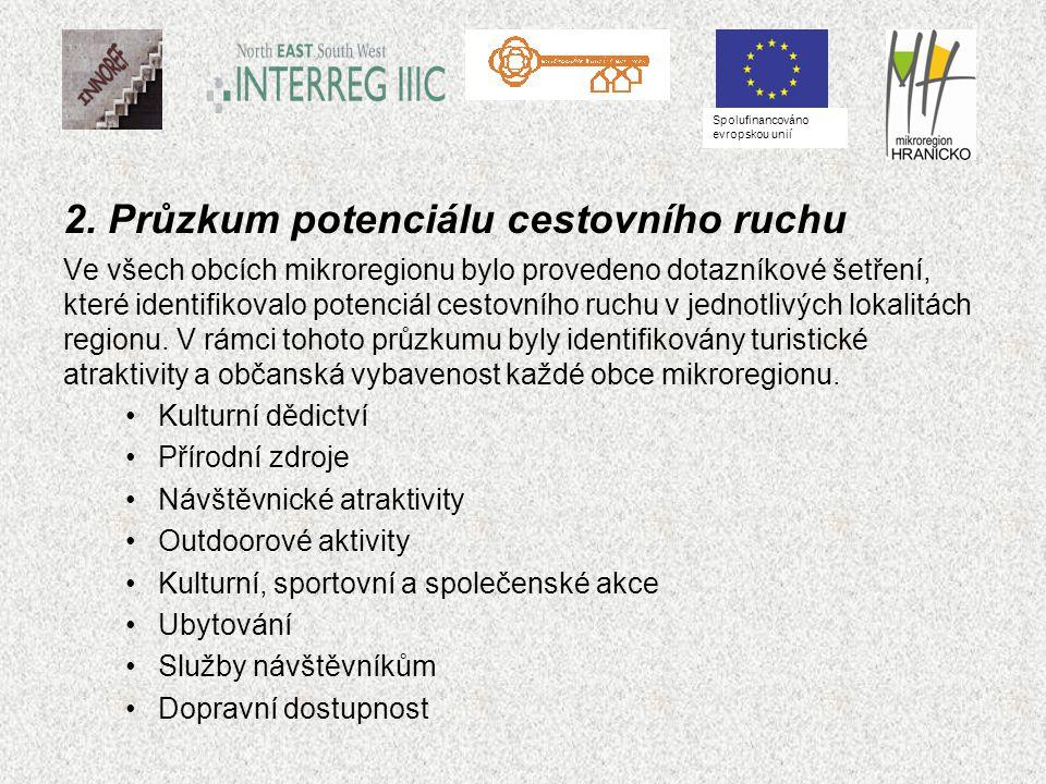 2. Průzkum potenciálu cestovního ruchu Ve všech obcích mikroregionu bylo provedeno dotazníkové šetření, které identifikovalo potenciál cestovního ruch