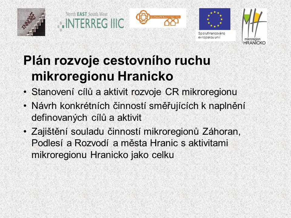 Plán rozvoje cestovního ruchu mikroregionu Hranicko Stanovení cílů a aktivit rozvoje CR mikroregionu Návrh konkrétních činností směřujících k naplnění