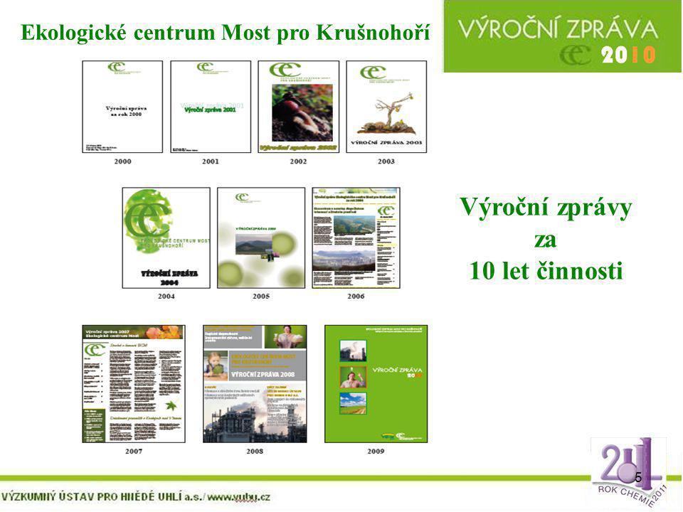 5 Výroční zprávy za 10 let činnosti Ekologické centrum Most pro Krušnohoří