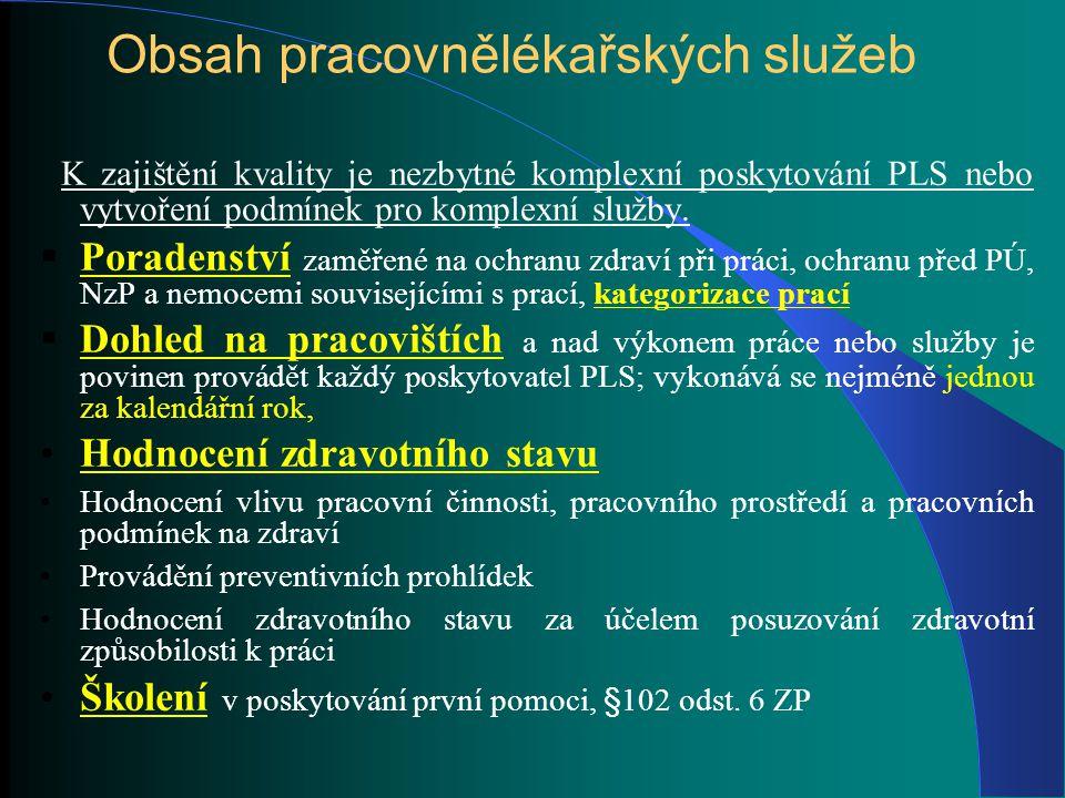 Kategorizace prací Z 258/2000 Sb., o ochraně veřejného zdraví, ve znění pozdějších předpisů; § 37 + V 432/2003 Sb., kterou se stanoví podmínky pro zařazování prací do kategorií)
