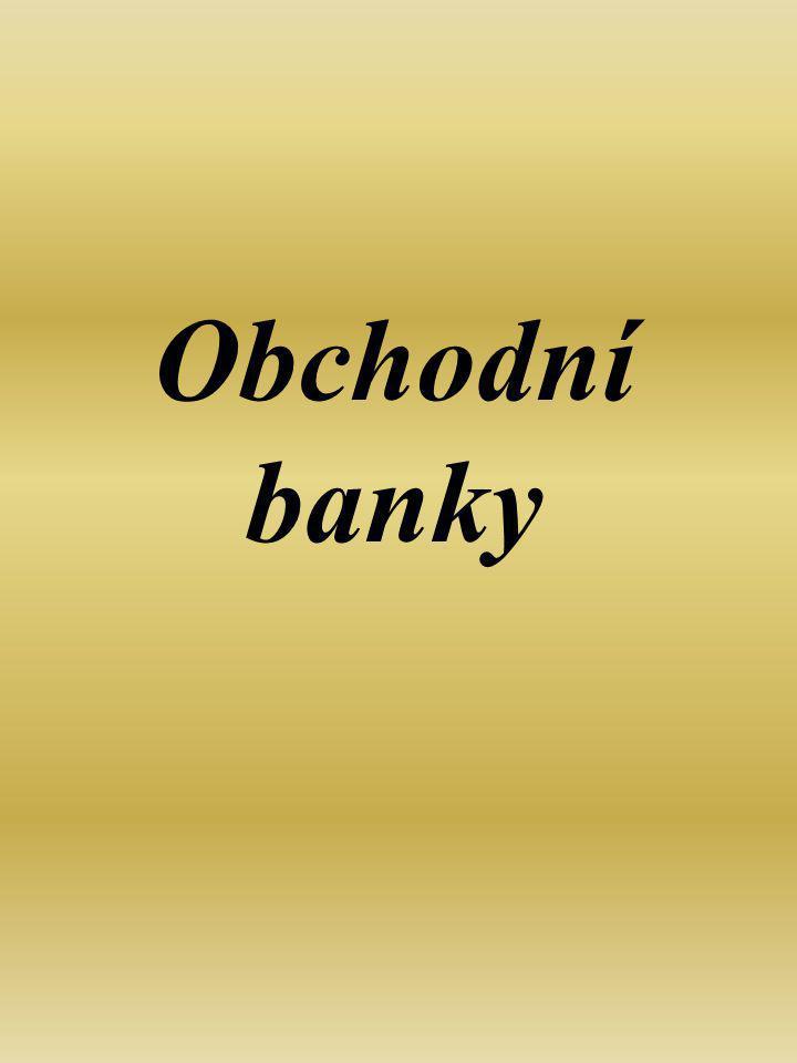 Činnost bank se řídí Zákonem č.21/1992 Sb., o bankách.