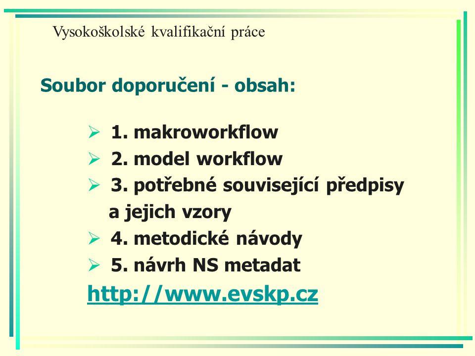 Soubor doporučení - obsah:  1. makroworkflow  2.