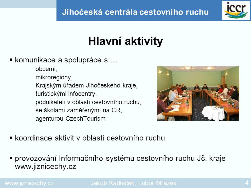 www.jiznicechy.czJakub Kadleček, Lubor Mrázek 4  komunikace a spolupráce s … obcemi, mikroregiony, Krajským úřadem Jihočeského kraje, turistickými in