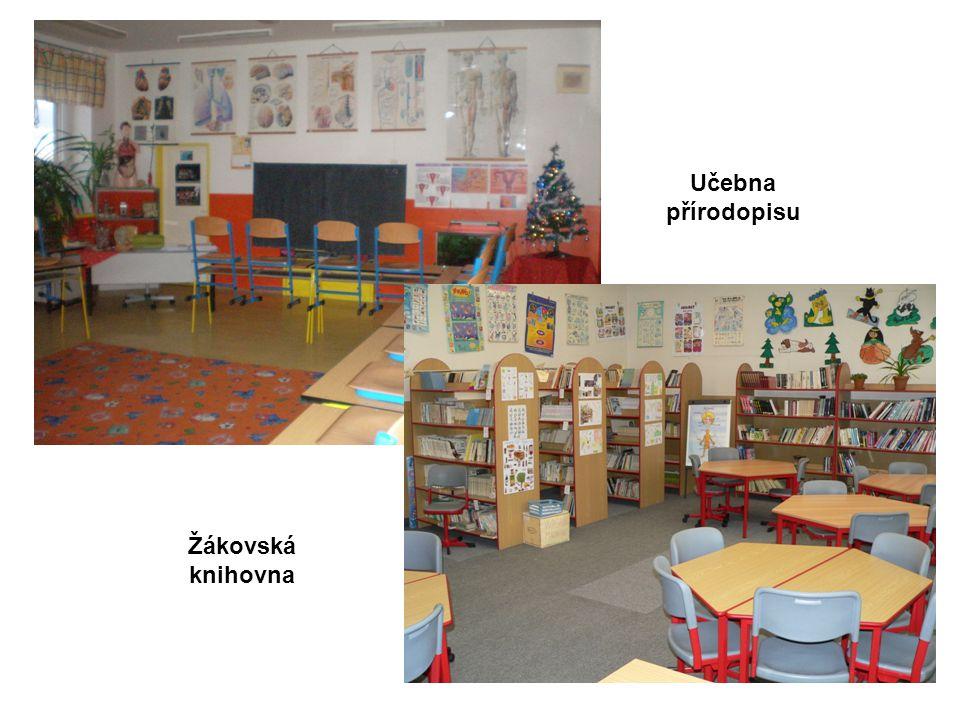 Žákovská knihovna Učebna přírodopisu