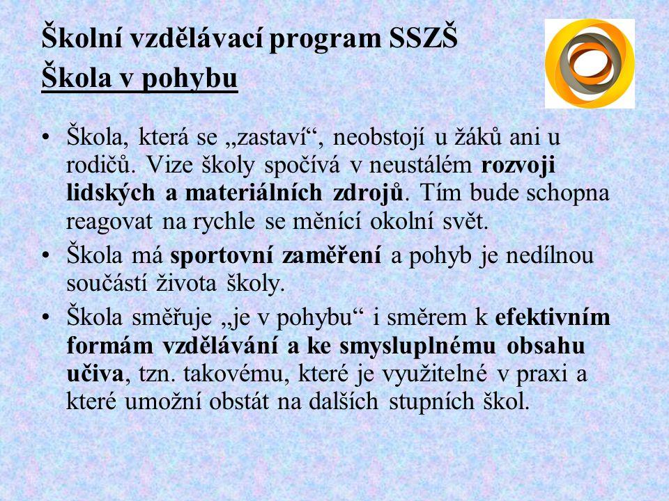 """Školní vzdělávací program SSZŠ Škola v pohybu Škola, která se """"zastaví , neobstojí u žáků ani u rodičů."""