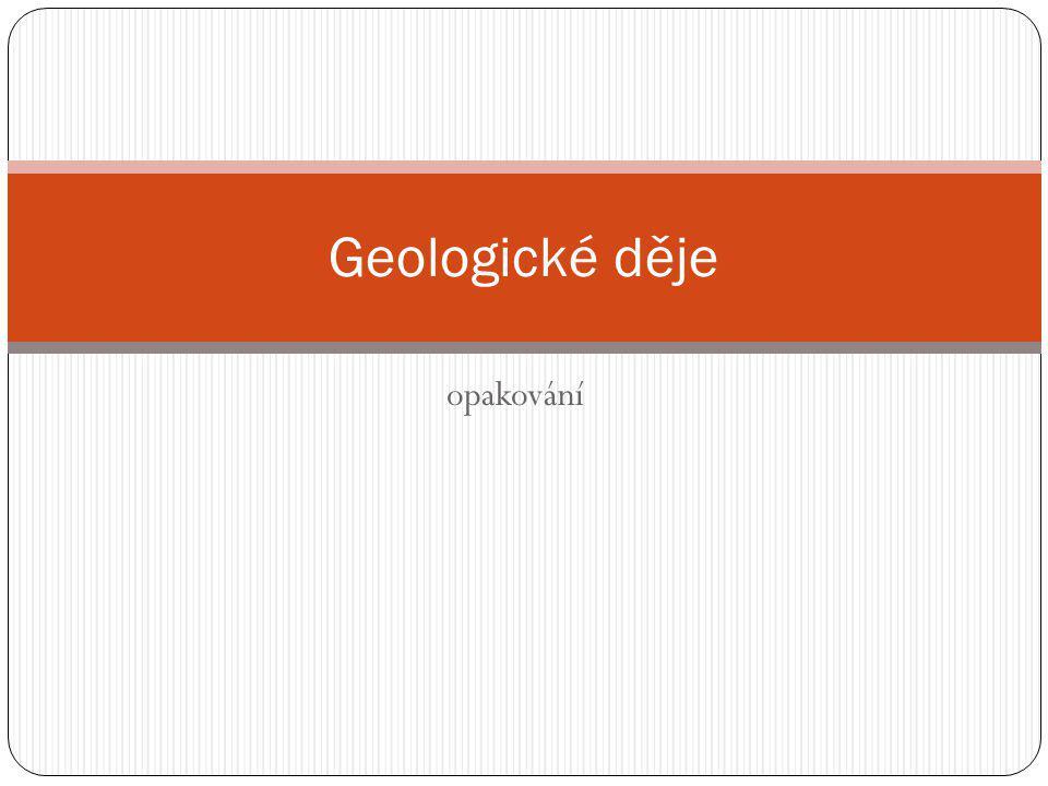 opakování Geologické děje