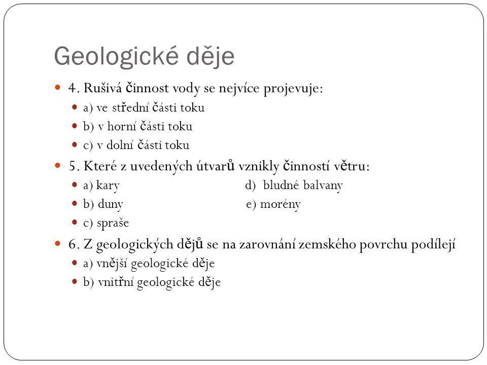 Geologické děje 4.