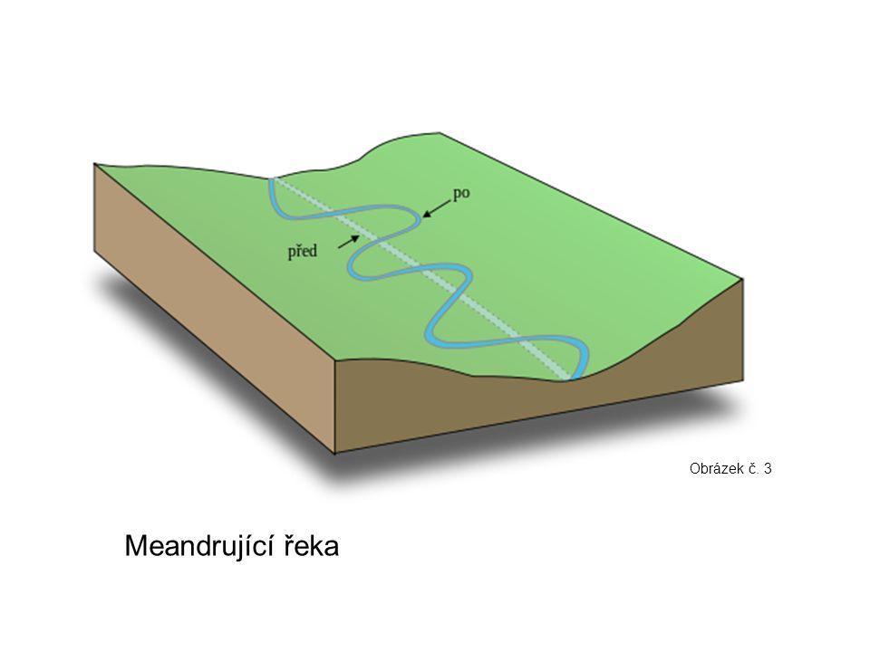 Meandrující řeka Obrázek č. 3