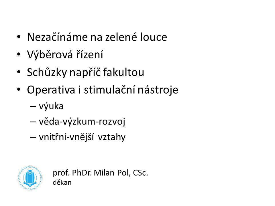 doc. Mgr. Rostislav Niederle, Ph.D. proděkan pro bakalářské a magisterské studium