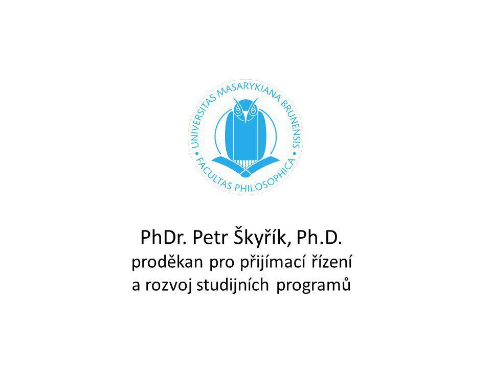 Proběhlý semestr přijímací řízení do bakalářských programů sebehodnocení oborů nová struktura učitelství PhDr.