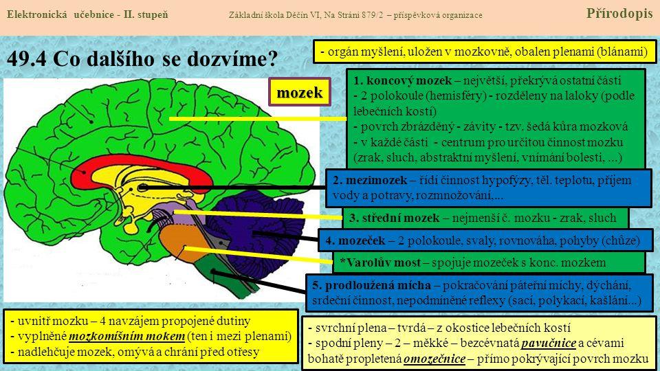 49.5 Procvičení a příklady Elektronická učebnice - II.