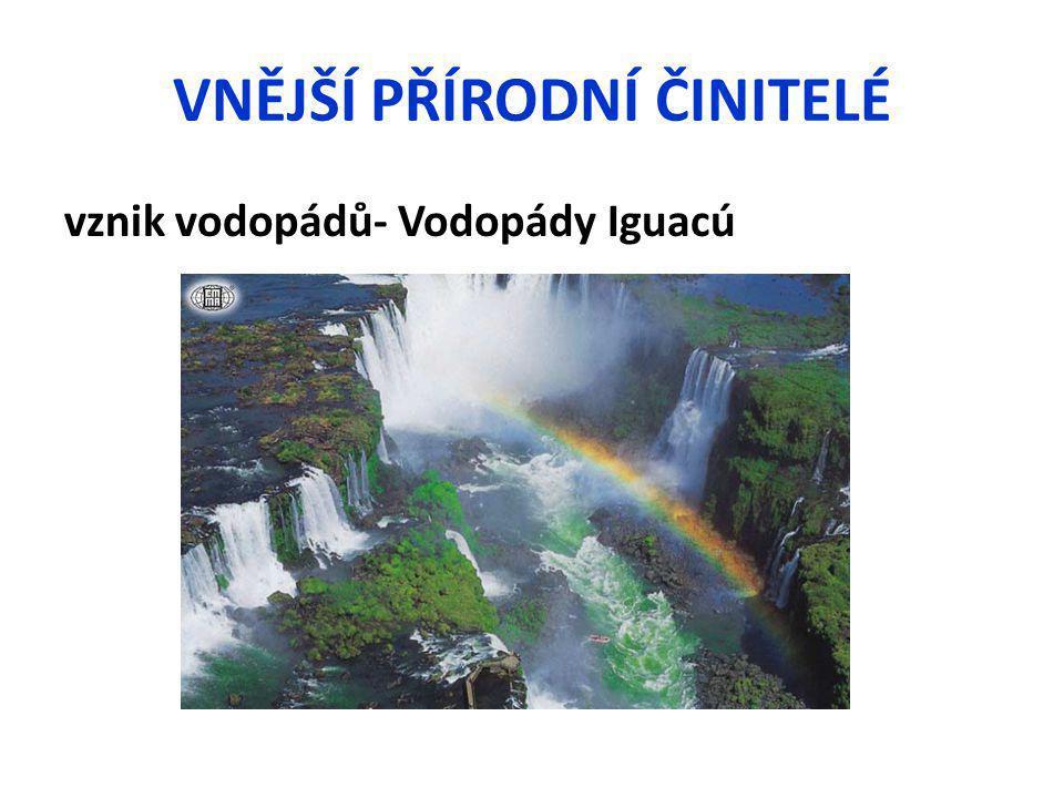 VNĚJŠÍ PŘÍRODNÍ ČINITELÉ vznik vodopádů- Vodopády Iguacú