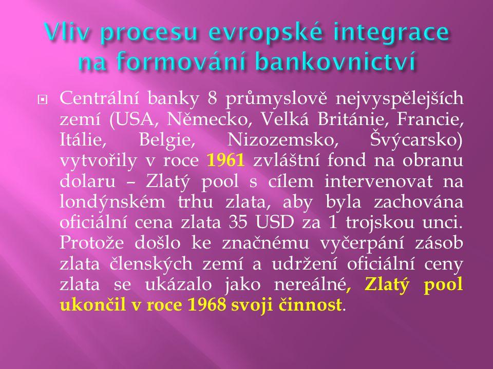  Evropská centrální banka (ECB) je nezávislou nadnárodní měnovou autoritou v Evropské měnové unii se sídlem ve Frankfurtu nad Mohanem.