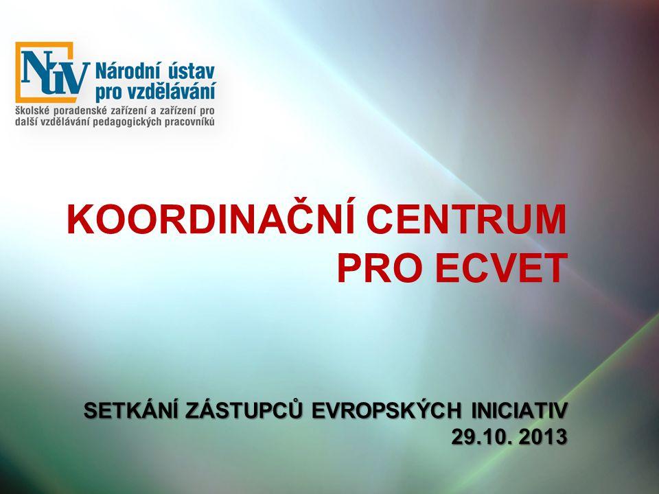 SETKÁNÍ ZÁSTUPCŮ EVROPSKÝCH INICIATIV 29.10.