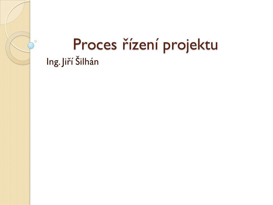 Proces řízení projektu Ing. Jiří Šilhán