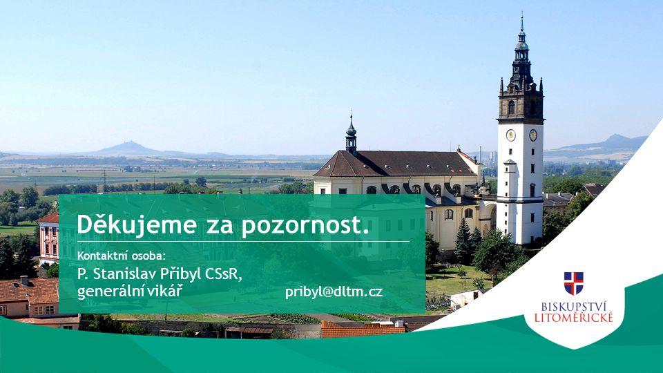 Kontaktní osoba: P. Stanislav Přibyl CSsR, generální vikář Děkujeme za pozornost. pribyl@dltm.cz
