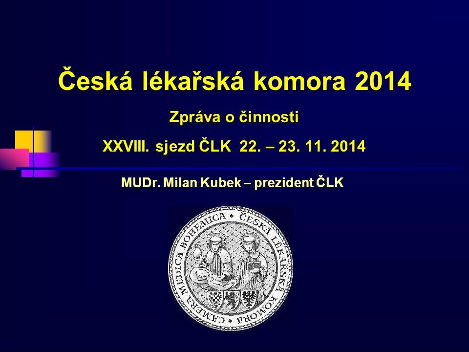 Česká lékařská komora 2014 Zpráva o činnosti XXVIII.