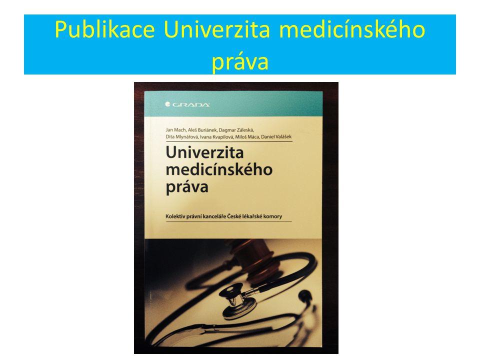 Publikace Univerzita medicínského práva