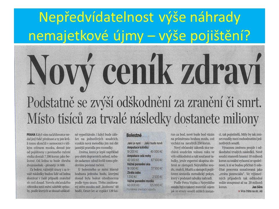 VIP profesní pojištění členů ČLK Nový OZ = jednání s Kooperativou 4 měsíce Nové pojistné podmínky – neakceptováno co předložili, zejména výluka § 2971 NOZ.