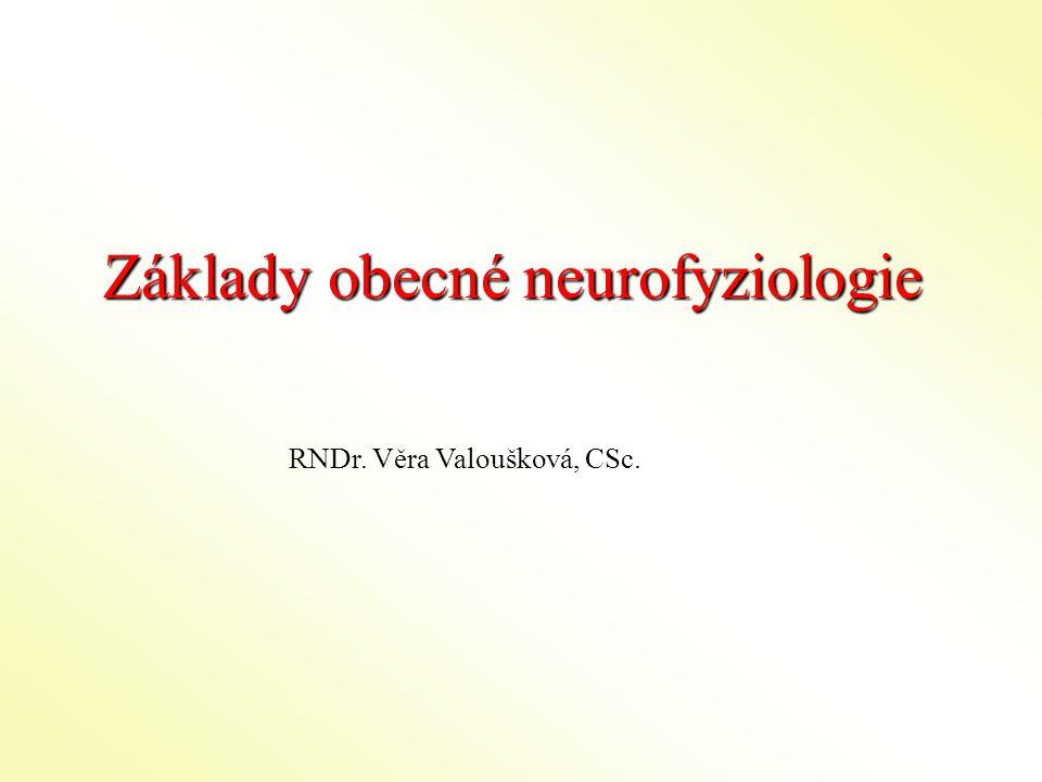 Základy obecné neurofyziologie RNDr. Věra Valoušková, CSc.